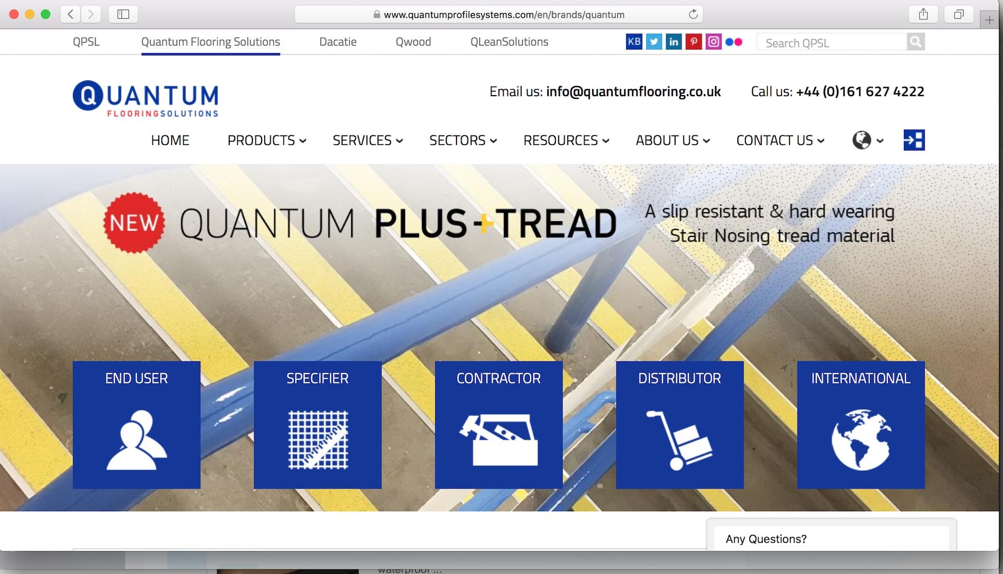 Quantum Profile Systems Website design